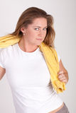 Woman with a towel Royalty Free Stock Photo