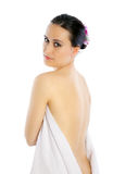 Woman with towel Stock Image