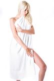 Woman with towel Stock Photography