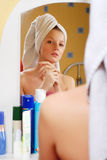 Woman in towel Royalty Free Stock Photos