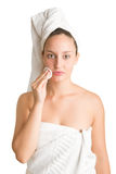 Woman With Towel Around Her Head Stock Images