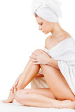 Woman in towel Royalty Free Stock Photo