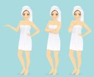 Woman in towel Stock Photos