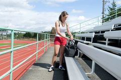 Woman at Track Royalty Free Stock Images