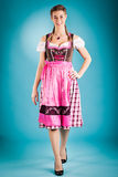 Woman in traditional clothes - dirndl or tracht Stock Image
