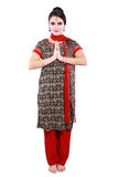 Woman in traditional clothing Royalty Free Stock Image