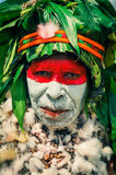 Woman in traditional costume in Papua New Guinea Royalty Free Stock Photo