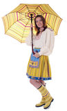 Woman in traditional estonian clothing Stock Photos