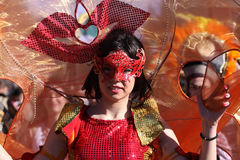 Woman in traditional masquerade costume Stock Photos