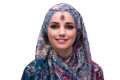 The woman in traditional muslim clothing Stock Photos
