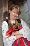 Woman in traditional Polish costume Royalty Free Stock Photos
