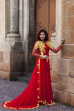 Woman in traditional Vietnamese costume Royalty Free Stock Image