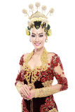 Woman traditional wedding dress of java Stock Photography