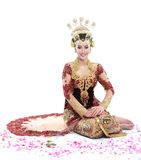 Woman traditional wedding dress of java Royalty Free Stock Photos