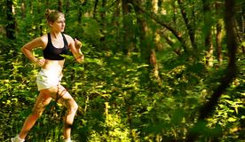 Woman Trail Runner Stock Photo