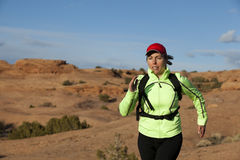 Woman Trail Running Royalty Free Stock Photography