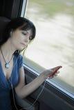 Woman train music Royalty Free Stock Photo