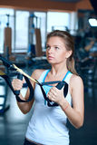 Woman trained in the fitness Royalty Free Stock Image