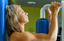 Woman on training Royalty Free Stock Photo