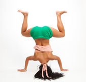 Woman training Stock Photo
