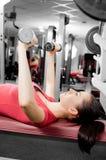 Woman training Stock Image