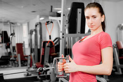 Woman training Royalty Free Stock Photo