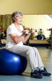 Woman training Stock Photos
