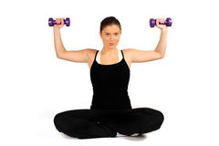 Woman training Royalty Free Stock Photography