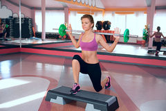 Woman training in fitness club Stock Photo