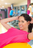 Woman training in a fitness club Royalty Free Stock Photos