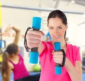 Woman training in a fitness club Stock Photo