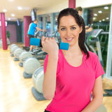 Woman training in a fitness club Stock Images