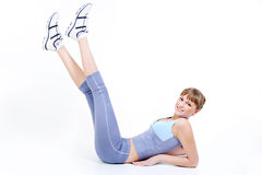 Woman training - fitness concept stock image