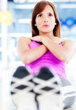 Woman training at the gym Royalty Free Stock Images