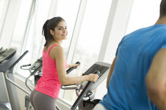 Woman training in the gym Stock Image