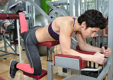 Woman training in a gym Stock Photos
