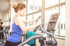 Woman training in a gym Royalty Free Stock Photography