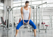 Woman training in the gym Royalty Free Stock Photo