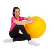 Woman training isolated on white background Stock Image