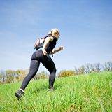 Woman training power walking Stock Photo