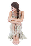 Woman in transparent dress Royalty Free Stock Photo