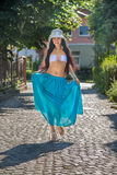 Woman in transparent skirt Royalty Free Stock Photo
