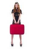 Woman travel attendant Stock Photo