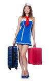 Woman travel attendant Royalty Free Stock Image