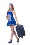 Woman travel attendant Royalty Free Stock Photos