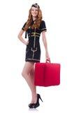 Woman travel attendant Royalty Free Stock Image
