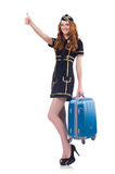 Woman travel attendant Royalty Free Stock Photo