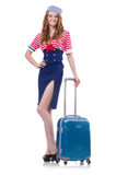 Woman travel attendant Stock Photography