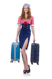 Woman travel attendant Stock Image