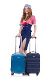 Woman travel attendant Stock Photos